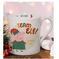 Personalised Peppa Pig Team Elf Mummy Pig Balmoral Mug