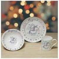 Personalised Peppa Pig Christmas Breakfast Set