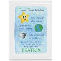 Personalised Poster - Twinkle Twinkle Little Star