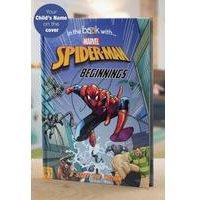 Personalised Spiderman Beginnings - Hardback Book