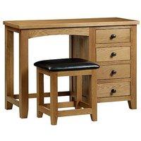 Addison Single Pedestal Dressing Table - Brown