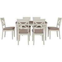 Furnitureland - Annecy Extending Dining Table with 6 Faux