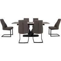 Merlin Extending Dining Table and 6 Chairs