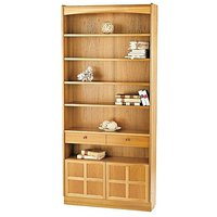 Classic Tall Bookcase with Doors