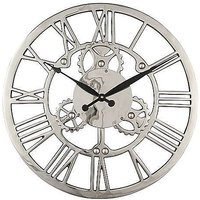 Nickel Cog Wall Clock - Silver