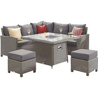 Dorset Compact Corner Dining Set with Fire Pit Table