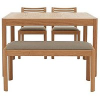Ercol - Ella Small Extending Dining Table, 2 Dining Chairs