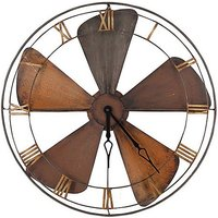 Fan Wall Clock - Brown
