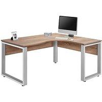Fylo Right Hand Facing Corner Desk - Brown