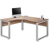 Fylo Left Hand Facing Corner Desk - Brown