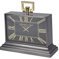 Latham Medium Black and Gold Mantel Clock