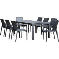 Modena 8 Seater Garden Dining Set - Black