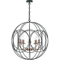 Maddox 5 Light Pendant Ceiling Light - Black