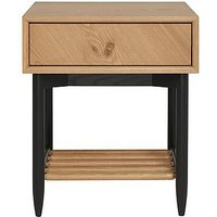 Ercol - Monza 1 Drawer Bedside Table - Brown