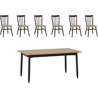 Ercol - Monza Medium Extending Dining Table and 6 Dining Cha