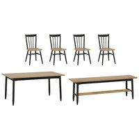 Ercol - Monza Medium Extending Dining Table, 4 Dining