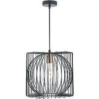 Nix 1 Light Pendant Ceiling Light - Black