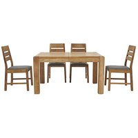 Furniture Village Portland Extending Dining Table and 4 Slatted Back Chairs