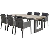 Ravello 6 Seater Garden Dining Set - Black