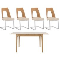 Romana Small Extending Dining Table and 4 Cantilevered Dinin