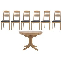 Nathan - Shades Extending Round Pedestal Dining Table and 6