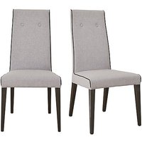St Moritz Pair of Fabric Upholstered Dining Chairs