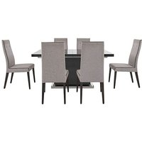 ALF - St Moritz Extending Dining Table and 6 Fabric Dining C