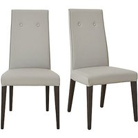 St Moritz Pair of Faux Leather Upholstered Dining Chairs