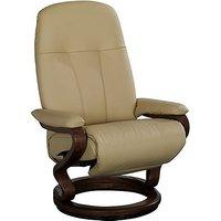 Zerostress Eske Leather Armchair with Footstool