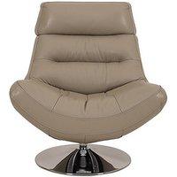 Salvador Leather Swivel Armchair