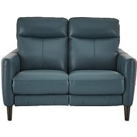 Compact Collection Petit 2 Seater Leather Recliner Sofa