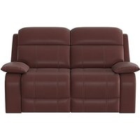 Moreno 2 Seater Leather Manual Recliner Sofa - Red- World of Leather