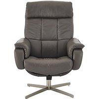 Shades Leather Swivel Armchair