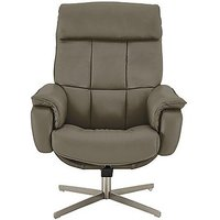 Shades Leather Swivel Armchair