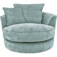 Tangier Fabric Snuggler Swivel Armchair