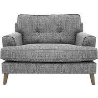 Line Fabric Snuggler Armchair
