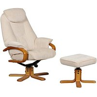 Zurich Fabric Swivel Armchair and Footstool