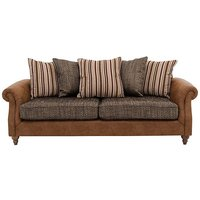 Chinook Fabric Seat 3 Seater Pillow Back Sofa