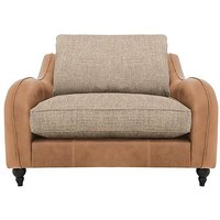 Cherokee Leather and Fabric Mix Classic Back Snuggler Chair