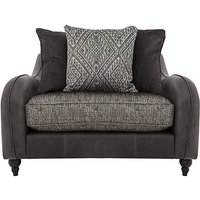 Cherokee Leather and Fabric Mix Scatter Back Snuggler Chair