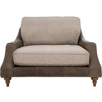 Apache Leather and Fabric Mix Classic Back Snuggler Chair