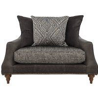 Apache Leather and Fabric Mix Scatter Back Snuggler Chair