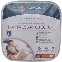 Guardsman Luxury Quilted & Reversible Mattress Protector - Single