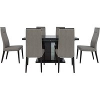 ALF - Avellino Extending Dining Table and 6 Dining Chairs -
