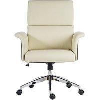 East River Elegance Medium-back Office Chair - Cream