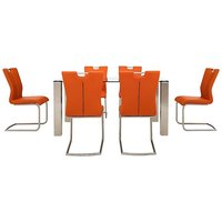 Ideas 160cm Dining Table and 6 Handle-back Dining Chairs