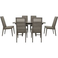 Movado Extending Dining Table and 6 Dining Chairs