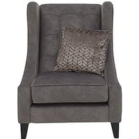 Amora Fabric Winged Accent Chair - Mink