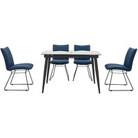 Ace Small Extending Dining Table and 4 Chairs - Blue