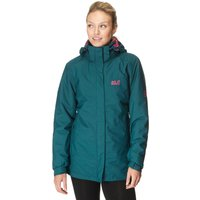 Jack Wolfskin Womens Arbourg 3 in 1 Texapore Hiking Jacket, Green
